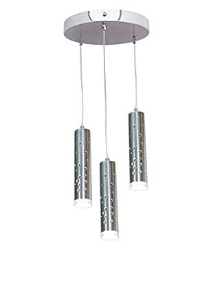 Access Lighting Rain LED 3-Light Pendant, Chrome/White