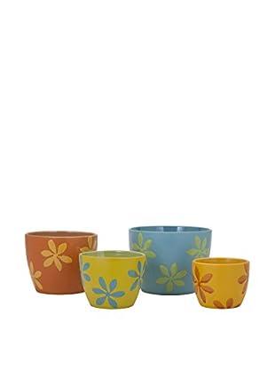 Set of 4 Arden Planters, Multi