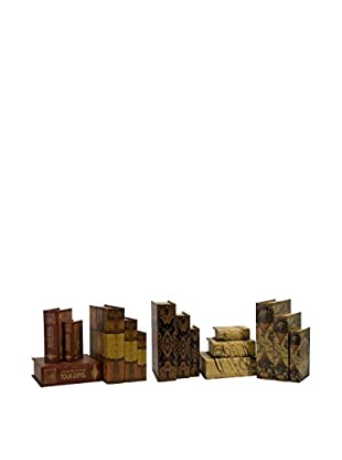 Set Of 15 Convenience Book Boxes, Multi