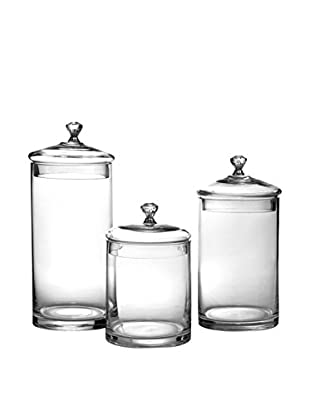 Fitz & Floyd 3-Piece Glass Canister Set