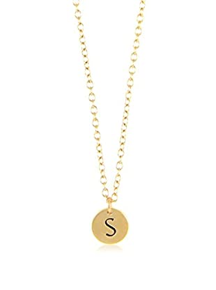Ettika 18K Gold-Plated S Initial Charm Necklace