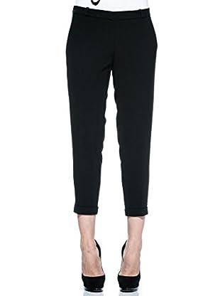 Annarita N Pantalón de Vestir Maschile (Negro)