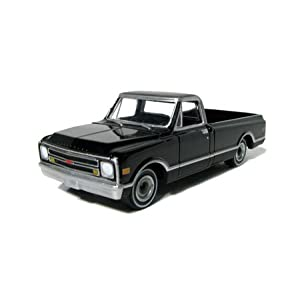 Chevrolet C-10 1969, scale 1:64 in Black by GreenLight