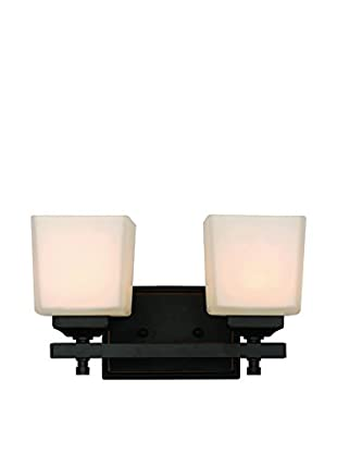 Bel Air Lighting Cubed 2-Light Sconce, Rubbed Oil Bronze