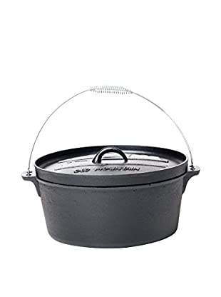 Old Mountain 12-Qt. Camp Oven with Flanged Lid, Black
