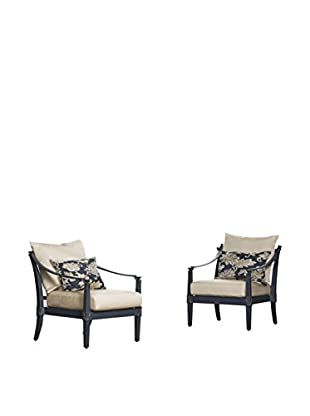 RST Brands Astoria Set of 2 Club Chairs, Beige