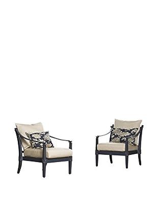 RST Brands Astoria Set of 2 Club Chairs, Beige