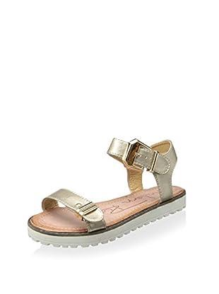 Modern Rush Women's Alor Ankle-Strap Sandal (Light Gold)