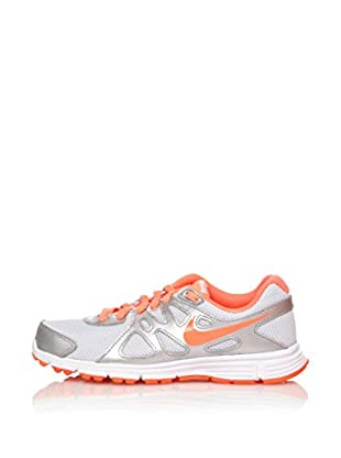 Nike Zapatillas Revolution 2 Gs (Plata / Naranja)