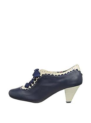Poetic Licence Zapatos Abotinados Whiplash (Azul Marino / Blanco)