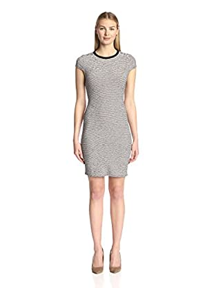 Twenty Tees Women's Static Micro Stripe Mini Dress