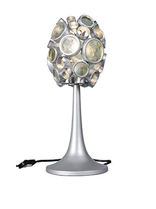 Varaluz Fascination 1-Light Table Lamp, Nevada Silver/Clear