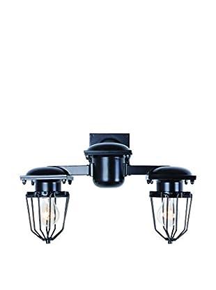 Urban Lights Kingston 2-Light Wall Lamp, Black