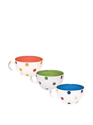 Molecuisine Espressotasse 6er Set Pois mehrfarbig