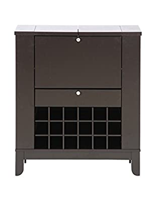 Baxton Studio Modesto Modern Dry Bar & Wine Cabinet, Dark Brown