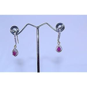 eNV Delicate diamond ruby drops Earring
