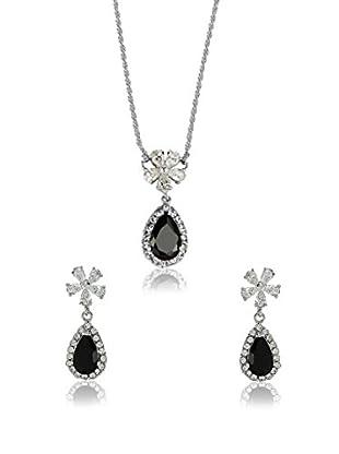 Shiny Cristal Set Halskette und Ohrringe