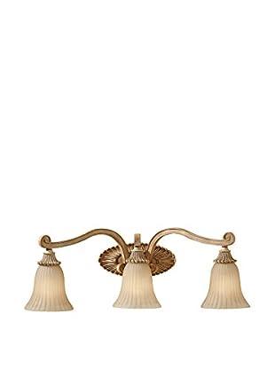 Feiss 3-Light Vanity Fixture, Medium Aged Wood