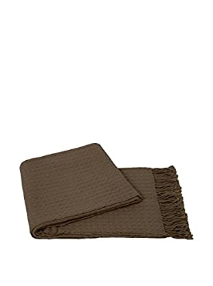 a & R Cashmere Waffleweave Throw, Sand