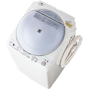 【クリックで詳細表示】SHARP タテ型洗濯乾燥機 穴なし槽カビぎらい ブルー系 洗濯容量7.0kg ES-TX70-A