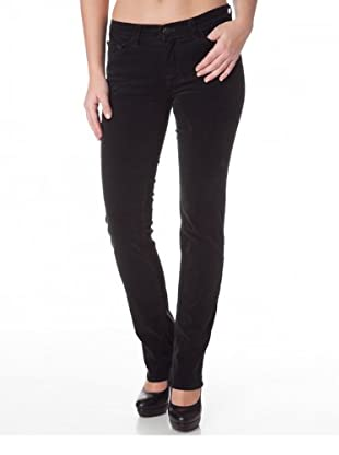 J Brand Cordhose Mid Rise Stretch Skinny (Black Forest)