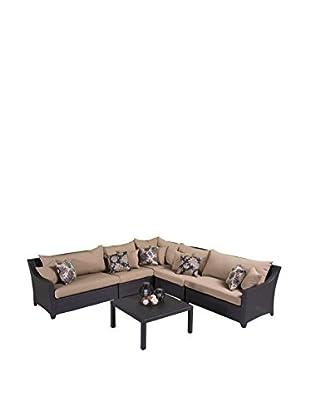 RST Brands Deco 6-Piece Corner Sectional Set, Beige