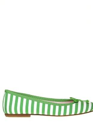 Bisue Bailarinas (verde / blanco)