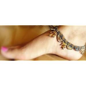 Anklets - Handmade Bead Anklets- Golden