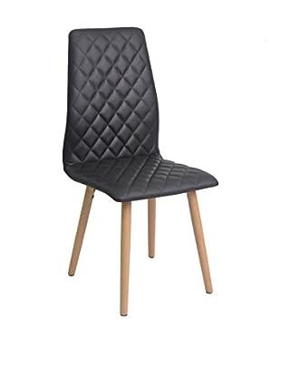 Stuhl 2er Set Colton schwarz 445 x 52 x 100H cm
