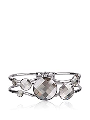 Crystal from Swarovski Brazalete Disko Metal Plateado