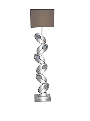Sculptural Mirror Floor Lamp, Silver