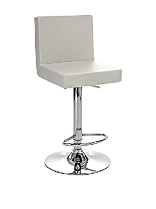 Contemporary Black & White Set Taburete de bar 2 Uds. Bar Confort Blanco