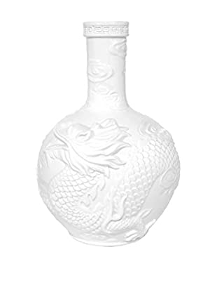 Three Hands White Dragon Vase