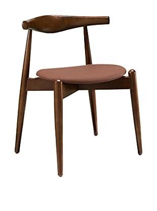 Modway Stalwart Dining Side Chair (Dark Walnut/Tan)