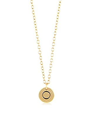 Ettika 18K Gold-Plated O Initial Charm Necklace
