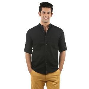 Nick & Jess Casual Men's Shirt - Black