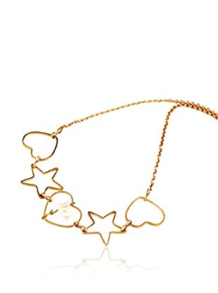 Art de France Collar Heart metal bañado en oro 24 ct