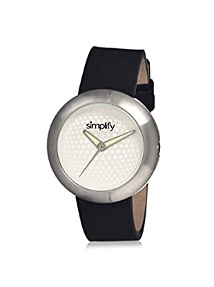 Simplify Women's 1201 The 1200 Black Leather Watch