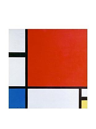 Legendarte Leinwandbild Composizione Ii In Rosso, Blu E Giallo