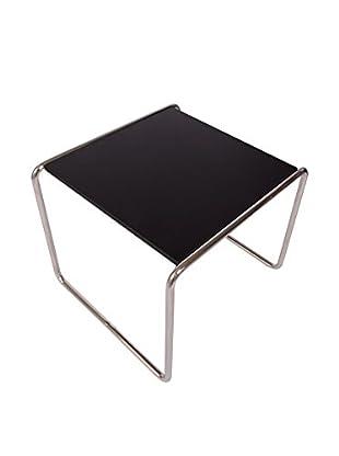 LeisureMod Malvern Side/Coffee Small Table, Black