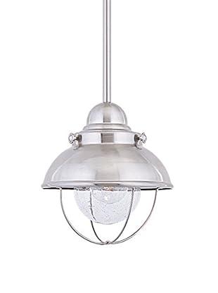 Sea Gull Lighting Sebring LED Mini-Pendant, Brushed Stainless