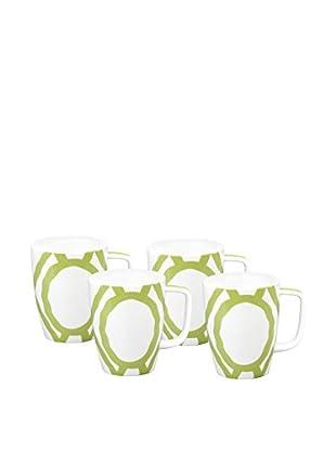 Split P Set of 4 Pistachio Trellis Mugs