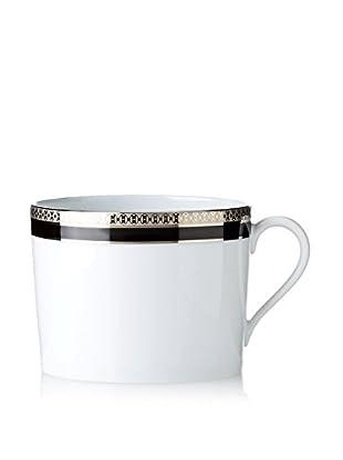 Haviland Symphony Cappuccino Cup, Platinum/Black