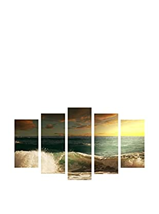 LO+DEMODA Leinwandbild 5 tlg. Set Sea Wave
