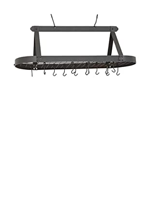 Old Dutch International 24-Hook Oval Pot Rack (Graphite)