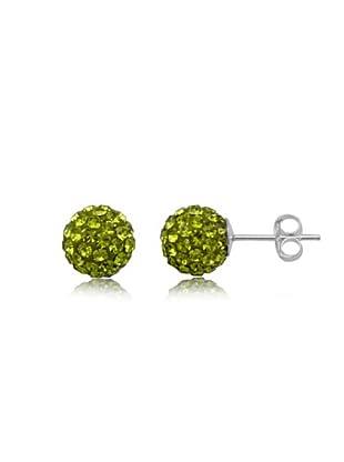 Fashion Victim Pendientes con Cristales verde