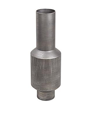 Privilege Large Metal Vase, Grey