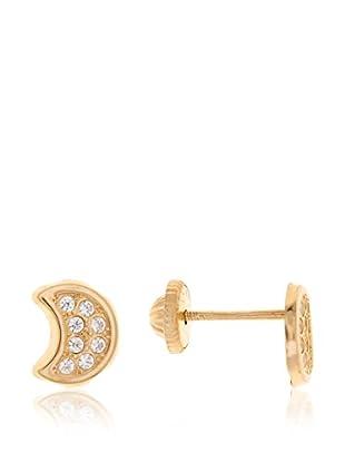 Gold & Diamonds Ohrringe Moon 18 Karat (750) Gelbgold