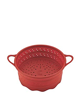 Circulon Tools 6-Qt. Collapsible Silicone Steamer Insert, Red