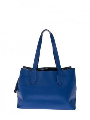 Elysa Tote-Bag mit Quaste (Blau)